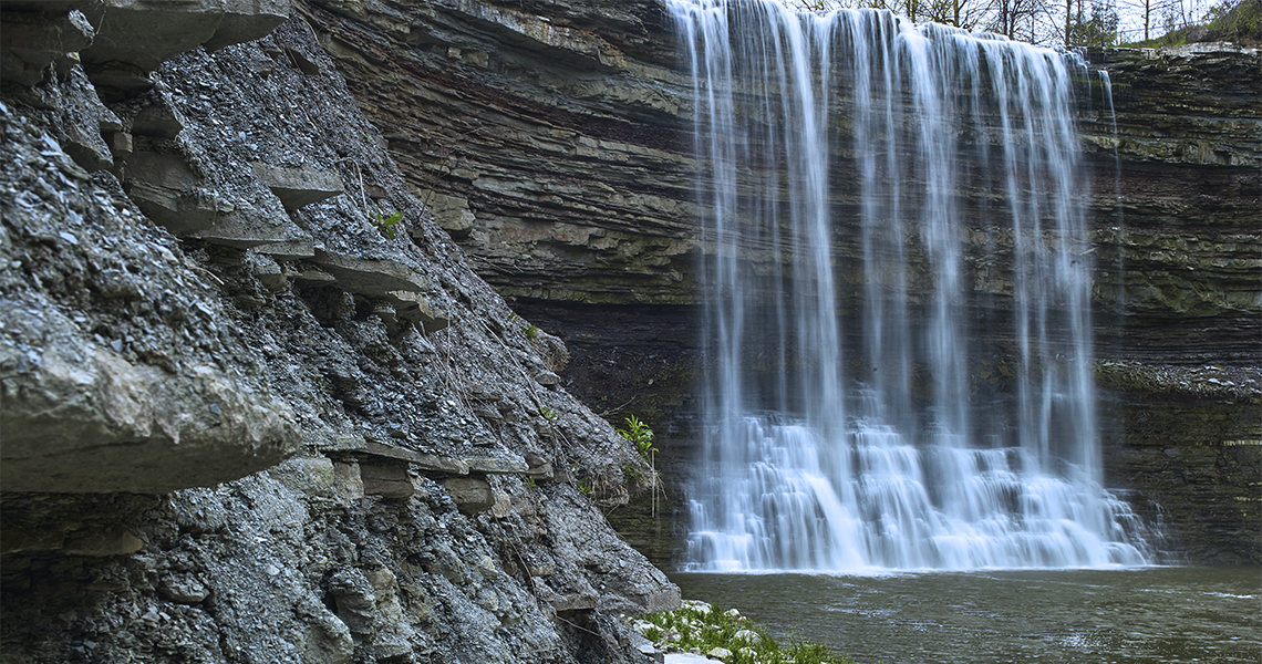 Balls Falls on The Niagara Escarpment