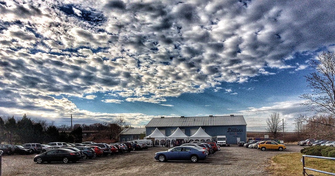 Spectacular clouds above Dillon's Distillery event